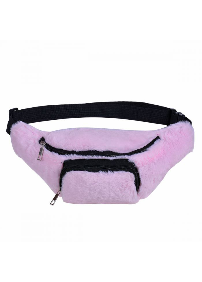 Fluffy Bumbag – Baby Pink