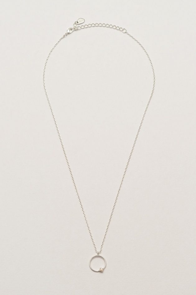 Estella Bartlett – Open Circle Necklace with Pearl