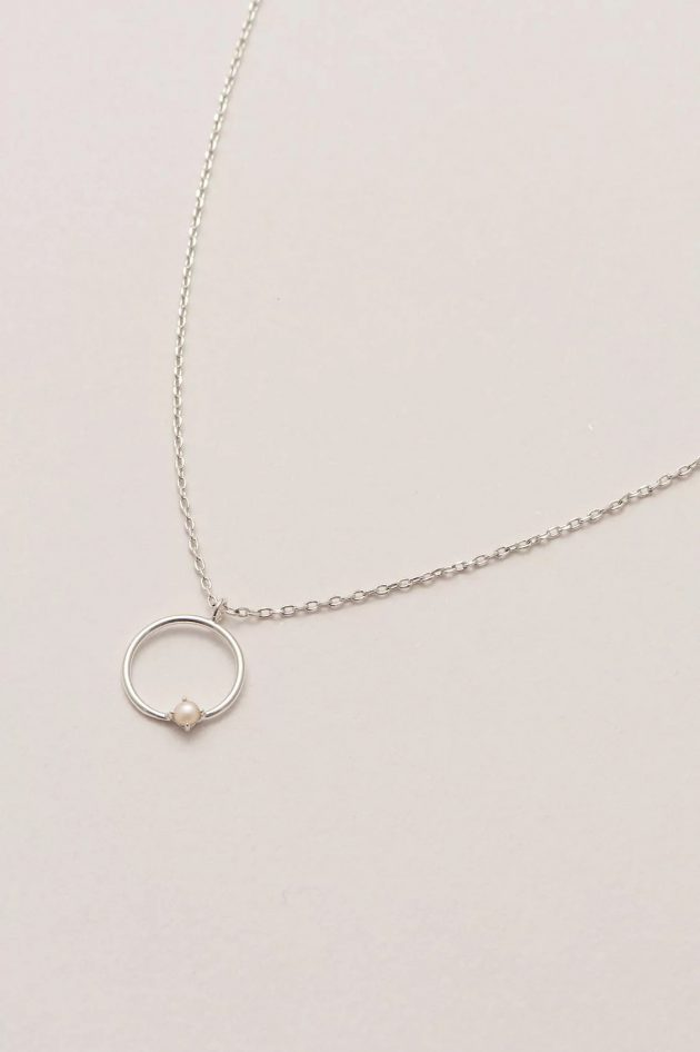 Estella Bartlett - Open Circle Necklace with Pearl