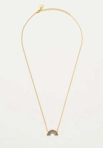 Estella Bartlett Full Rainbow Necklace - Gold