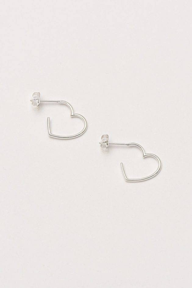 Estella Bartlett – Open Heart Hoop Earrings