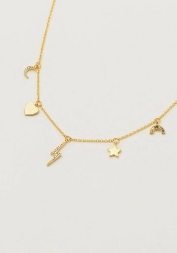 Estella Bartlett - Multi-Charm CZ Necklace
