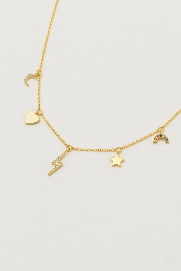 Estella Bartlett – Multi-Charm CZ Necklace