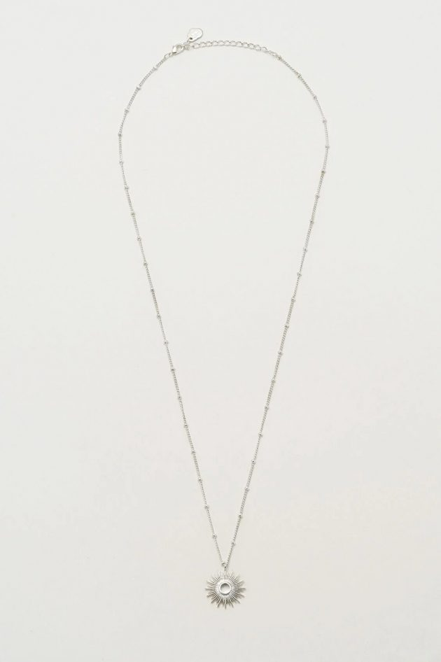 Estella Bartlett Full Sunburst Necklace - Silver