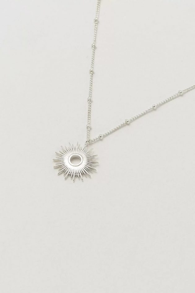Estella Bartlett Full Sunburst Necklace – Silver
