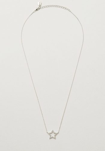 Estella Bartlett CZ Open Star Necklace - Silver