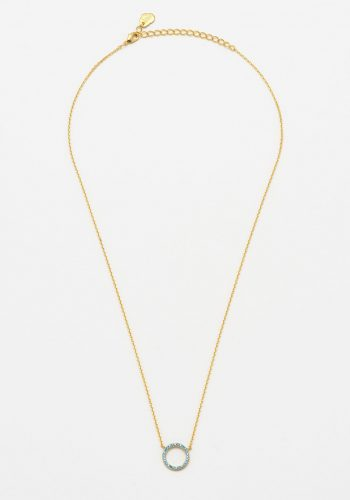 Estella Bartlett - Blue CZ Circle Necklace - Gold