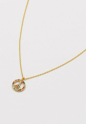 Estella Bartlett - Peace Symbol Necklace