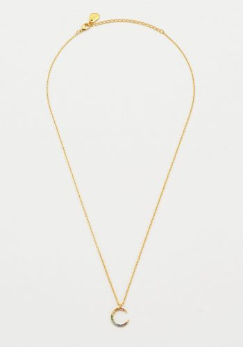 Estella Bartlett - CZ Rainbow Moon Necklace