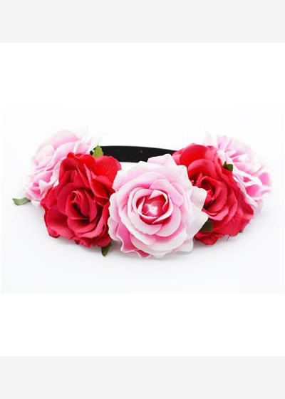 Two Tone Pink Large Flower Garland