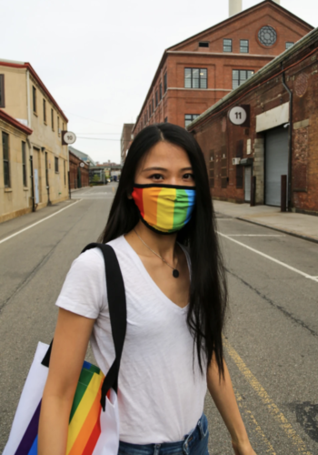 Premium Face Mask: Rainbow Pride