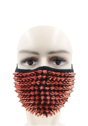 Lust Red Stud Face Mask