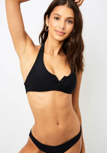 Frankies Bikinis Billy Top - Black
