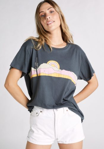 Wildfox Saguaro Sunset Tee - Dirty Black