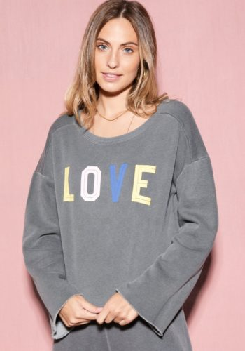 Wildfox For Letters Flora Sweatshirt