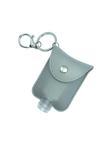 Keylean - Hand sanitizer key ring holder - Grey