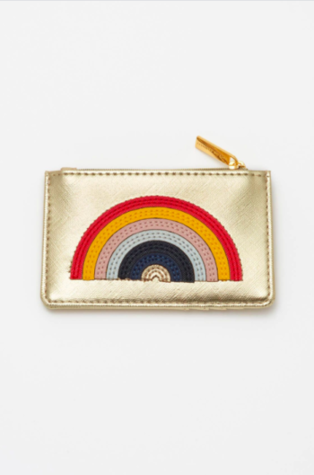 Estella Bartlett Rainbow Applique Card Purse – Gold