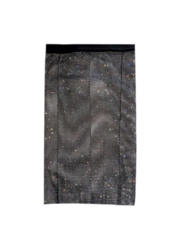 Paparazzi Mesh Jewel Skirt - Black Sparkle