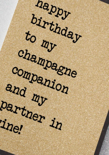 UD16 | To My Champagne Companion