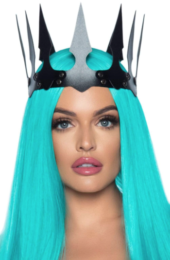 leg avenue Faux Leather Spiked Crown