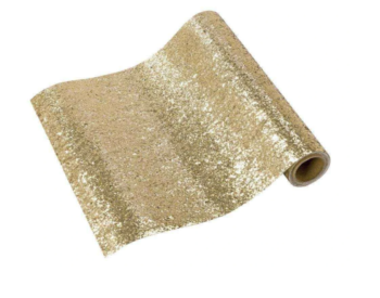 Luxe Gold Glitter Table Cover