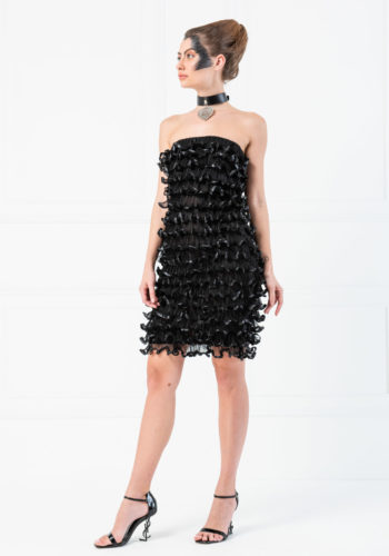 Kiki Riki - Black Frilled Tube Dress
