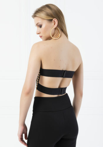 Kiki Riki Ring Design Black-Gold Bustier