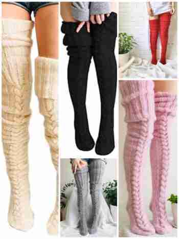 Knitted Over the Knee Socks