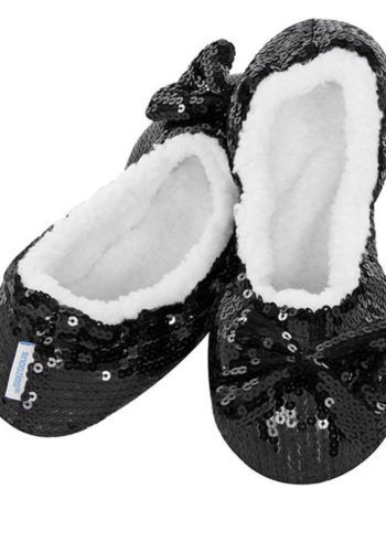 Ladies Bling Balerina Cozy Slippers Warm Non-Slip & Washable