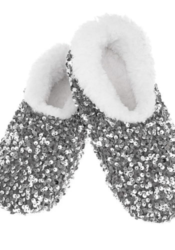 Bling Sequins Super Soft Sherpa Womens Slippers