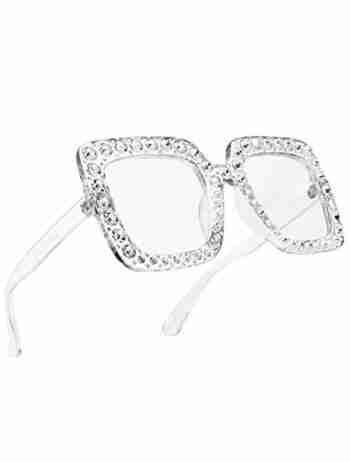 Square Diamond Rhinestone Sunglasses