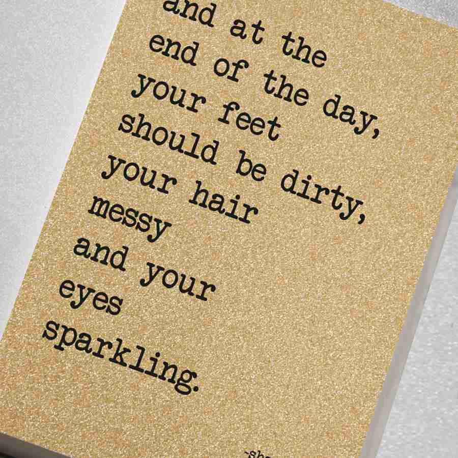 Notebook – Your Hair Messy and Your Eyes Sparkling