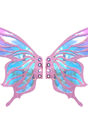 Feyre Lilac Glitter Fairy Original Wingz Pair For Calf Or Boot