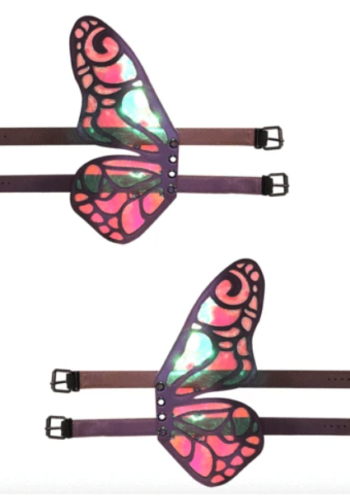 FlutterByeee Reflective Butterfly Original Wingz Pair For Calf Or Boot