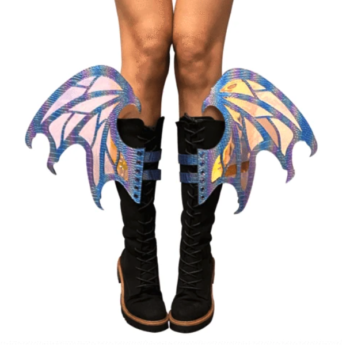 Drogon Iridescent Flame Original Wingz Pair For Calf Or Boot