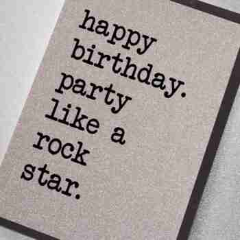 Happy Birthday Party Like a Rock Star