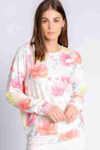 HAPPY BLOOMS LONG SLEEVE TOP – PJ SALVAGE