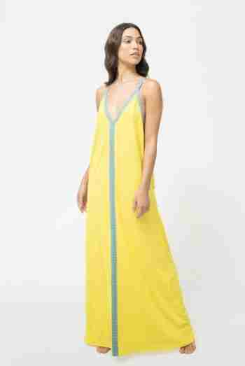 SOLID INCA SUNDRESS – NEON YELLOW – PITUSA