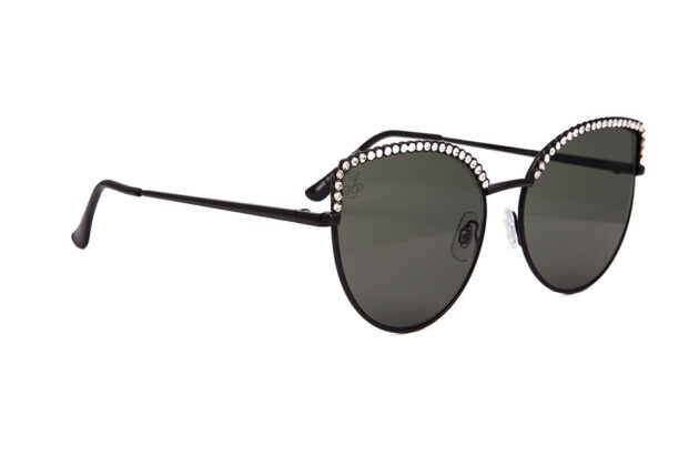 CAT EYE STYLE IN BLACK WITH DIAMONTE DETAILING