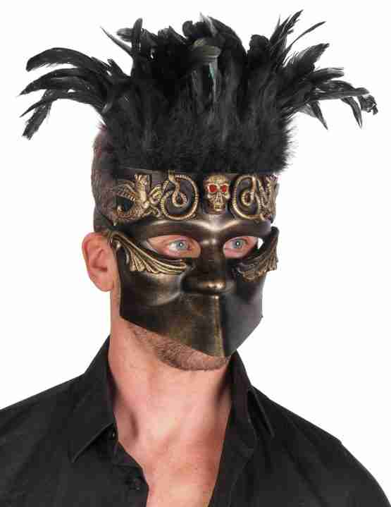 Bauta Mask with Feathers