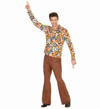 Multicolored Bubbles Funky 70's Shirt – Mens