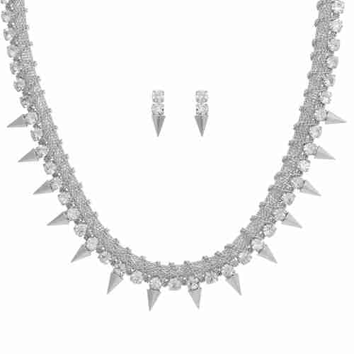 Chain Reel Spike Necklace