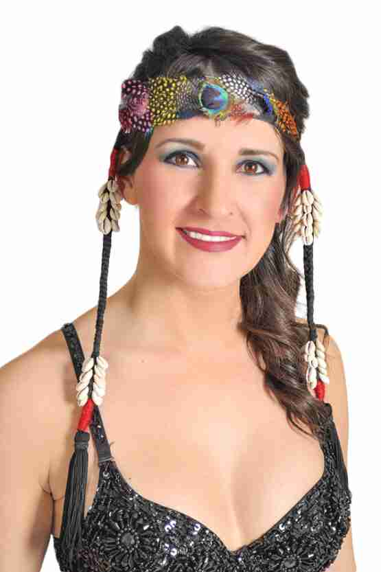 Feather head piece with Kauri Shell Tassels