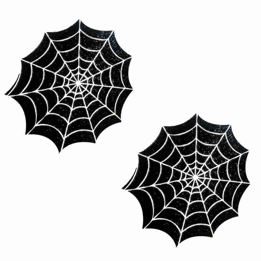 Neva Nude 'Freaking Awesome' Spider Web Nipple Pasties