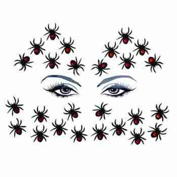 Neva Nude 'Black Widow' Spider Body and Face Stickers