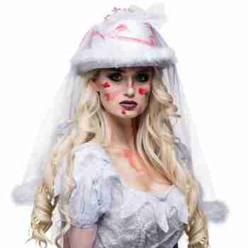 Horror Bride Hat with Veil