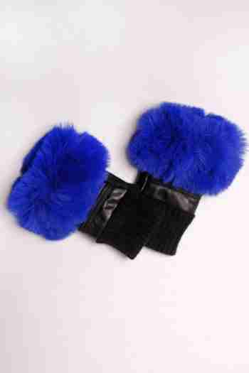 Jayley Collection Fingerless Faux Fur Gloves