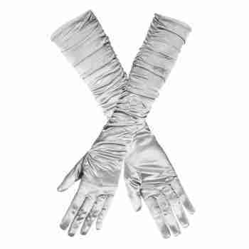 Silver Hollywood Gloves