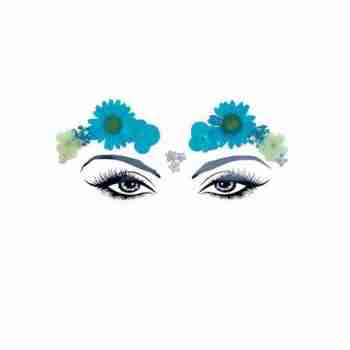 Neva Nude Spring Fling Real Blue Pressed Flowers Face Stickers